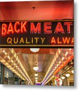 Loback Meat Co Neon Metal Print