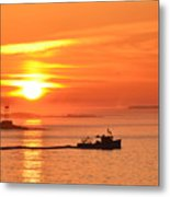 Lobster Boat Metal Print