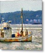 Lobster Boat Metal Print