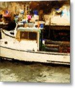 Lobster Boat Stonington Ct Metal Print