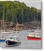 Lobster Boats In Bar Harbor Metal Print