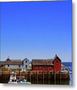 Lobster Boats In Harbor Metal Print