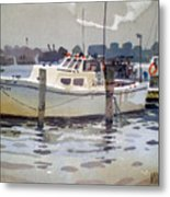 Lobster Boats In Shark River Metal Print