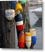 Lobster Buoy At Water Taxi Pier Metal Print