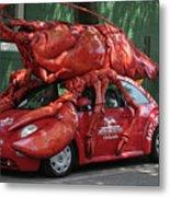 Lobster Car Metal Print