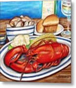 Lobster Dinner Metal Print