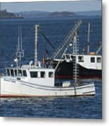 Lobster Fishing Boats Metal Print