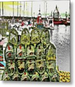 Lobster Pots Kilmore Quay, Wexford, Ireland, Poster Effect 1a Metal Print