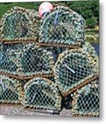 Lobster Pots Metal Print