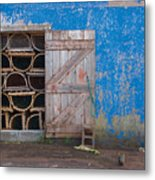 Lobster Trap Storage-2 Metal Print