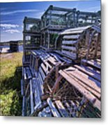 Lobster Traps In The Sun Metal Print