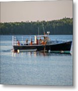 Lobstermen At Work  Metal Print