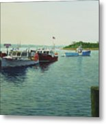 Lobsters And Crabs Metal Print