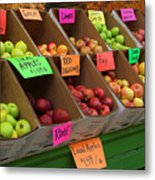 Local Apples For Sale Metal Print