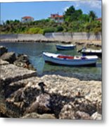 Local Boats In Harbour Metal Print