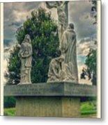 Local Cemetery Statue Metal Print