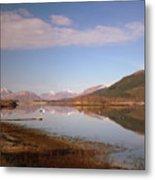 Loch Leven And Morvern Hills Winter2 Metal Print