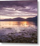 Loch Linnhe - The Last Rays Of The Sun. Metal Print