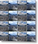 Loch Ness In Squares Metal Print