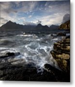Loch Scavaig And The Cuillin Metal Print