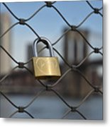 Lock And Bridge  Metal Print