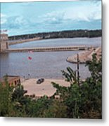 Lock And Dam 19 Metal Print