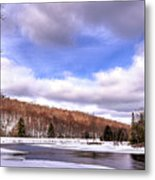 Lock And Dam Snowscape Metal Print