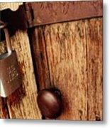 Locked Barn Metal Print