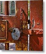 Locked Gate Metal Print