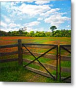 Locked Up Beauty Metal Print