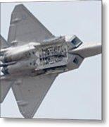 Lockheed Martin F-22a Raptor 05-4098 Luke Afb Arizona March 19 2011 Metal Print