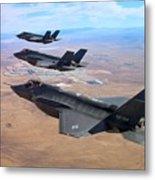 Lockheed Martin F-35 Lightning II Metal Print