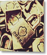 Locks From Sheriff Penitentiary Metal Print