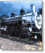 Locomotive 495 A Romantic View Metal Print