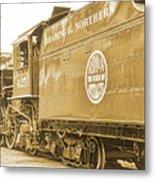 Locomotive And Coal Car Of Yesteryear Metal Print