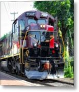 Locomotive In Color Metal Print