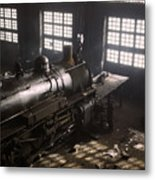 Locomotive Repair Shop - December 1942 Metal Print