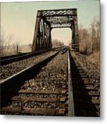 Locomotive Truss Bridge Metal Print