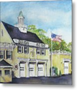 Locust Valley Firehouse Metal Print