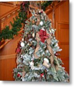 Lodge Lobby Tree Metal Print