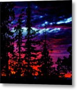Lodge Sunset Metal Print
