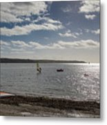 Loe Beach Windsurfers Metal Print