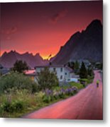 Lofoten Nightlife  Metal Print