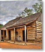 Log Cabin In Lbj State Park Metal Print