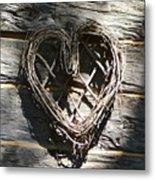 Log Cabin Love Metal Print