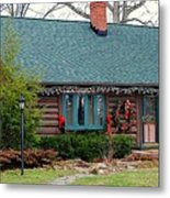 Log Cabin Metal Print