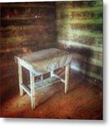Log Cabin Table Metal Print