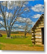 Log Cabin Valley Forge Pa Metal Print