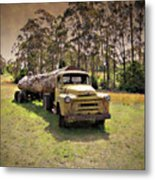 Log Mover Metal Print