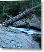Log Over Deep Creek Metal Print
